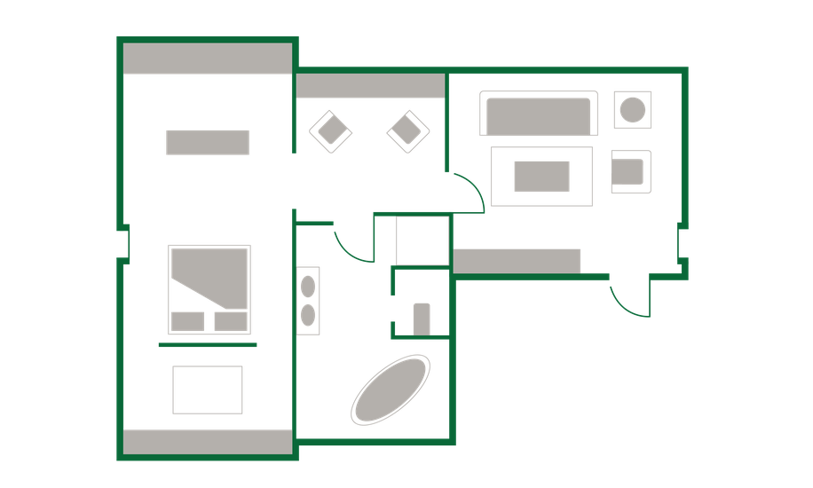 room - ground plan